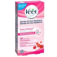 Bandas de Cera Depilatoria Easy-Gelwax Piel Normal de Veet