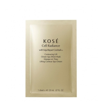 KOSÉ Cell Radiance Contouring Lift Onsen Spa Sheet Mask 20 ml