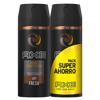 AXE Desodorante Body Spray Dark Temptation Duplo 150 ml + 150 ml