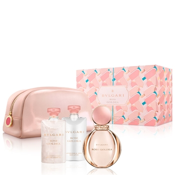 Bulgari Rose Goldea Estuche 90 ml Vaporizador + Gel de Ducha 75 ml + Body Lotion 75 ml + Neceser