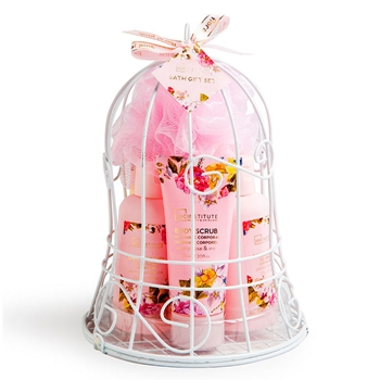 IDC INSTITUTE Set de Baño Floral Pink Peony&Rose 6 Productos