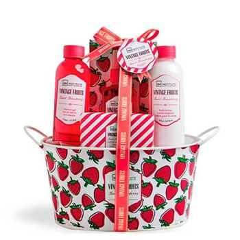 IDC INSTITUTE Set de Baño Vintage Fruits Sweet Strawberry 5 Productos