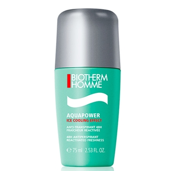 BIOTHERM HOMME AQUAPOWER Ice Cooling Effect 48H Déodorant Roll-on 75 gr