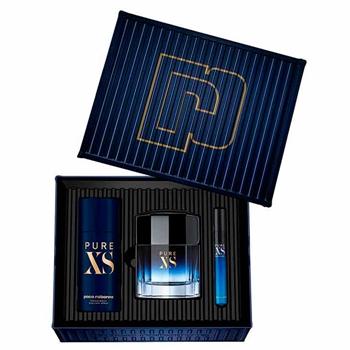 Paco Rabanne PURE XS Estuche 100 ml Vaporizador + Mini Vaporizador 10 ml + Desodorante 150 ml
