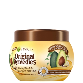 Original Remedies Aceite de Aguacate y Manteca de Karité Mascarilla Antiencrespamiento 300 ml