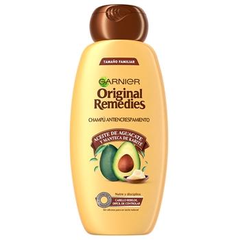 Original Remedies Aceite de Aguacate y Manteca de Karité Champú Antiencrespamiento 250 ml