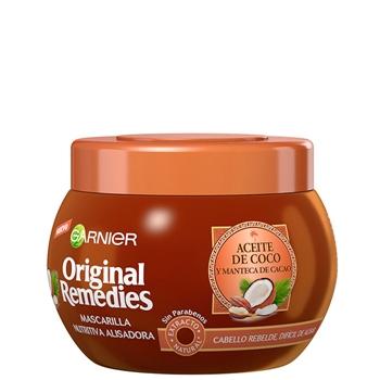Original Remedies Aceite de Coco y Manteca de Cacao Mascarilla Nutritiva Alisadora 300 ml