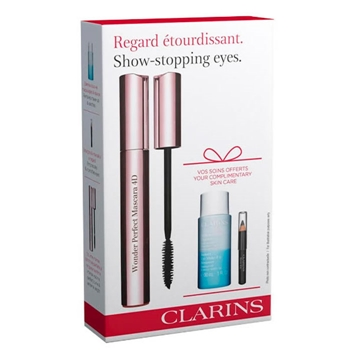 Clarins Wonder Perfect Máscara 4D Estuche 7 ml + 2 Productos