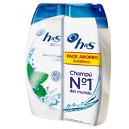 Champú Anticaspa Menthol Fresh Duplo de H&S