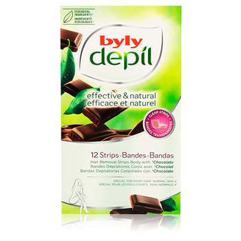 Byly DEPIL EFFECTIVE & NATURAL BANDAS CORPORALES 12 Tiras