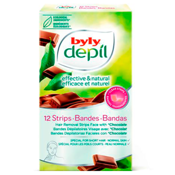 Byly DEPIL EFFECTIVE & NATURAL BANDAS FACIALES 12 Tiras