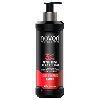 Novon 3X After Shave Cream Cologne Red Passion 400 ml