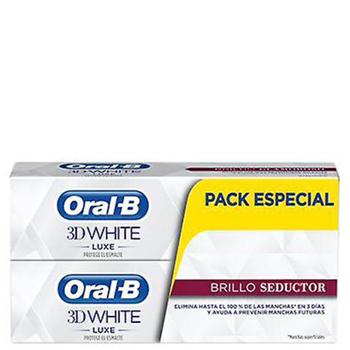 3D White Luxe Brillo Seductor Dentífrico Duplo de Oral-B