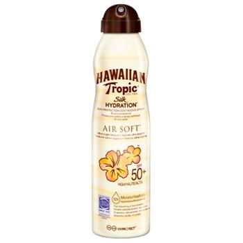 Hawaiian Tropic Air Soft Silk Hydratacion Bruma Sun Protection Continuous Spray SPF50 177 ml