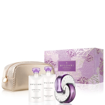 Bulgari Omnia Amethyste Estuche 65 ml Vaporizador + Body Lotion 75 ml + Body Lotion 75 ml + Pouch