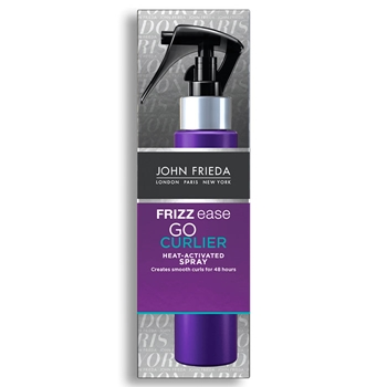 FRIZZ EASE Go Curlier Heat-Activated Spray de John Frieda