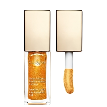 Clarins Eclat Minute Huile Confort Lèvres Nº 07 Honey Glam