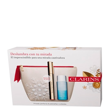 Clarins Supra Volume Mascara Estuche Nº 01 Negro Intenso + 2 Productos