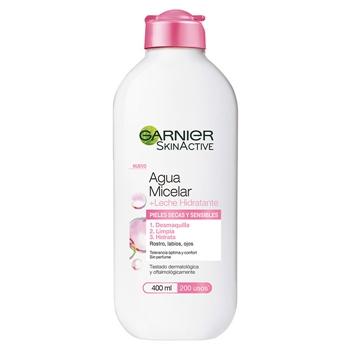 Skin Active Agua Micelar + Leche Hidratante de Garnier