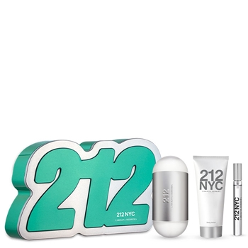 Carolina Herrera 212 Estuche 100 ml Vaporizador + Body Lotion 75 ml + 10 ml Vaporizador