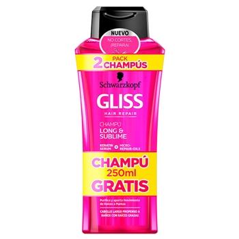 Gliss Long & Sublime Champú Duplo 400 ml + 250 ml