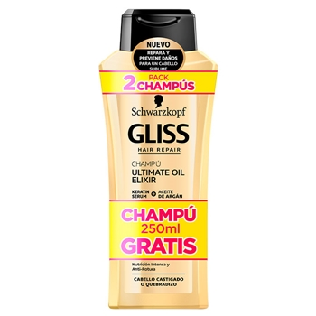 Gliss Ultimate Oil Elixir Champú 400 ml + 250 ml