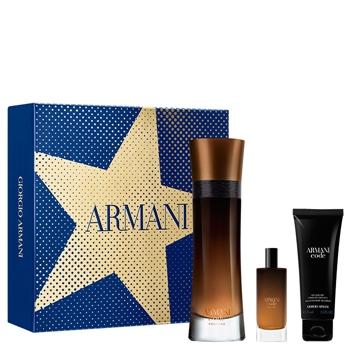 Armani CODE PROFUMO Estuche 110 ml Vaporizador + Gel Douche 75 ml + 15 ml Vaporizador