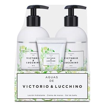 Victorio & Lucchino Aguas de Victorio & Lucchino Nº 3 Pack Loción Hidratante  300 ml + Crema de Manos 50 ml + Gel de Baño 300 ml