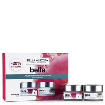 Bella Aurora Bella Tratamiento Diario Anti-Edad y Anti-Manchas Estuche Piel M/G 15 ml + Crema de Noche 15 ml