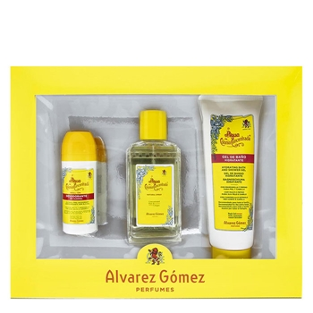 Álvarez Gómez Agua de Colonia Concentrada Estuche 150 ml Vaporizador + Gel de Baño 230 ml + Desodorante Roll-On 75 ml