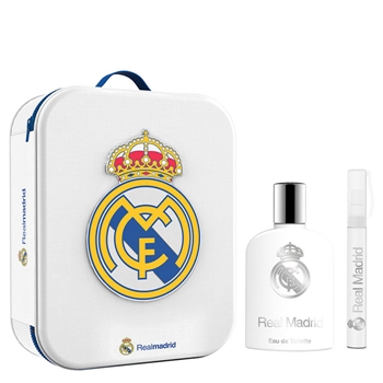 Real Madrid Real Madrid EDT Estuche 100 ml Vaporizador + 10 ml Roll-On + Neceser