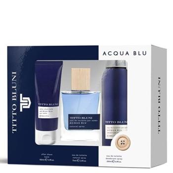 Titto Bluni Acqua Blu Estuche 75 ml Vaporizador + After Shave 100 ml + Desodorante Spray 200 ml