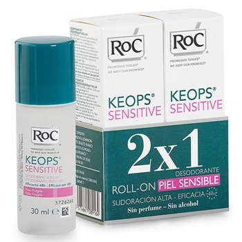 Roc Desodorante Roll-On Piel Sensible 30 ml + 30 ml