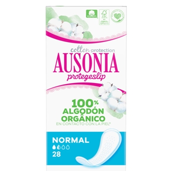 Ausonia COTTON PROTECTION Protegeslip Normal 28 Unidades