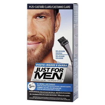 Just For Men Bigote y Barba Castaño Claro 15 ml + Cepillo Aplicador
