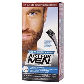 Just For Men Bigote y Barba Castaño Oscuro 15 ml + Cepillo Aplicador (Formato Anterior)
