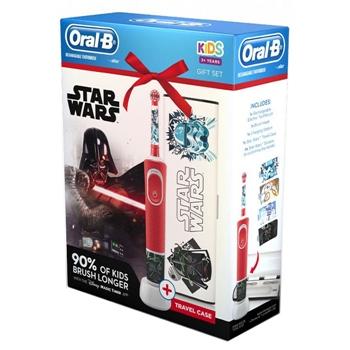 Oral-B Cepillo Eléctrico Kids Star Wars Estuche 1 Unidad + Estuche de Viaje + 4 Pegatinas