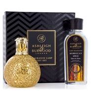 Fragance Lamp Gift Set Golden Orb & Moroccan Spice de Ashleigh & Burwood