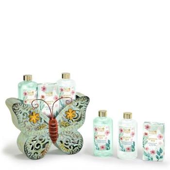 Bon Matín Set de Baño Mariposa Metálica 3 Productos