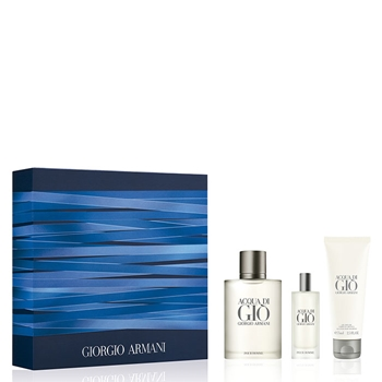 Armani ACQUA DI GIÒ Hombre Estuche 100 ml Vaporizador + Shower Gel 75 ml + 15 ml Vaporizador