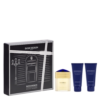 Boucheron POUR HOMME EDT Estuche 100 ml Vaporizador + Bálsamo After Shave 100 ml + Shower Gel 100 ml