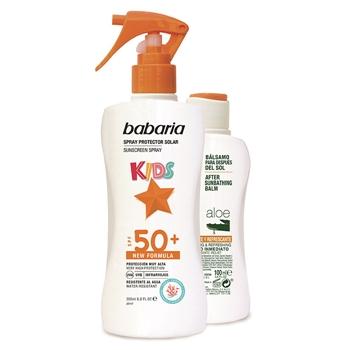Babaria Spray Protector Solar Kids SPF50+ 200 ml + After Sun Aloe 100 ml