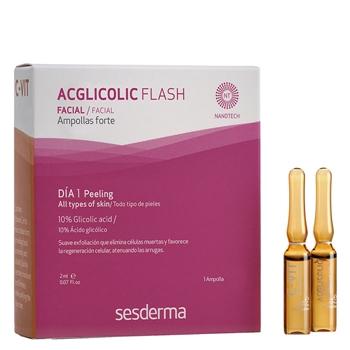 Sesderma Acglicolic Flash Ampolla Forte 1 Unidad x 2 ml + C-Vit Intensive Serum 1 Ampolla x 2 ml