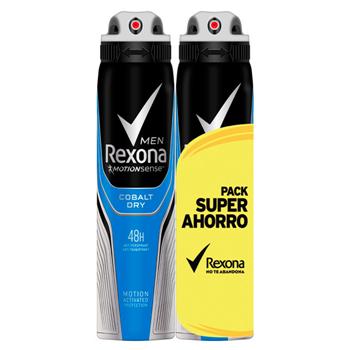 Rexona Cobalt Dry Desodorante Spray Men 200 ml + 200 ml