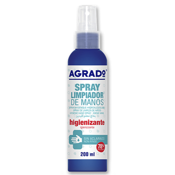 Agrado Spray Higienizante de Manos 200 ml