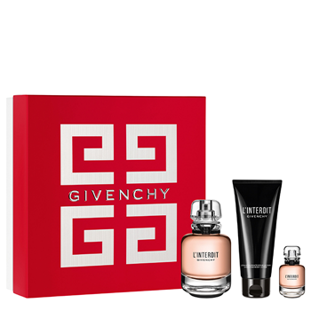 Givenchy L'INTERDIT Estuche 80 ml Vaporizador + Body Lotion 75 ml + Miniatura 10 ml
