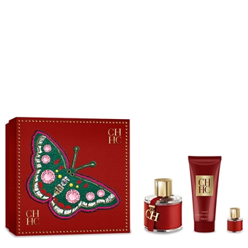 Carolina Herrera CH CAROLINA HERRERA Estuche 100 ml Vaporizador + Body Lotion 100 ml + Miniatura