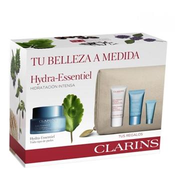 Clarins Hydra-Essentiel Crème DésaltéranteToutes Peaux Estuche 50 ml + 3 Productos + Neceser