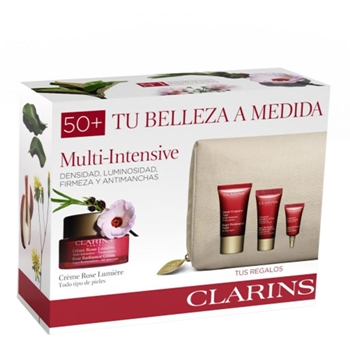Clarins Multi-Intensive Crème Rose Lumière Estuche 50 ml + 3 Productos + Neceser