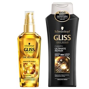 Gliss Oil Elixir 75 ml + Champú Ultimate 250 ml